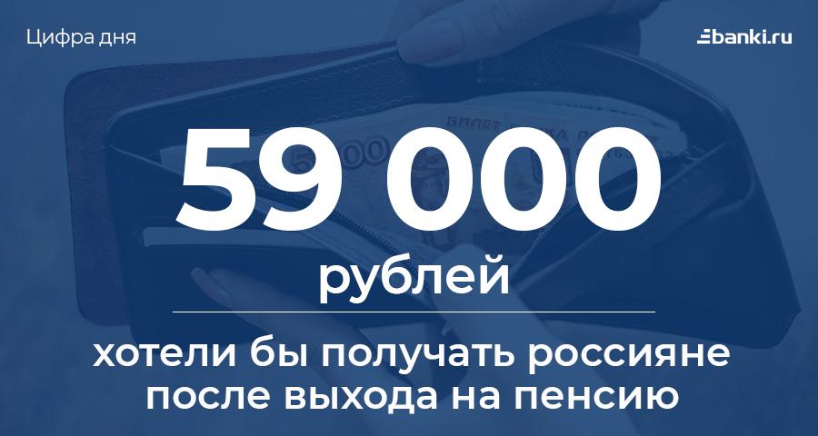 Цифра дня: какую пенсию хотят получать россияне