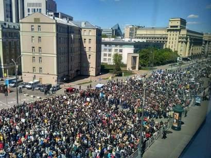 Митинг против сноса пятиэтажек в Москве собрал от 5 тыс. до 20 тыс. человек